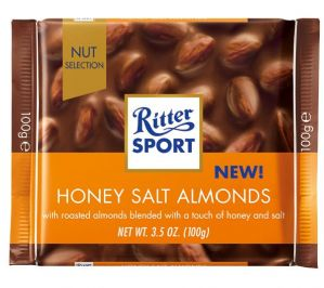 Ritter Sport Honey Salt Almonds In Milk Chocolate 100g